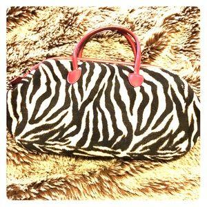 Striped Black and Tan purse